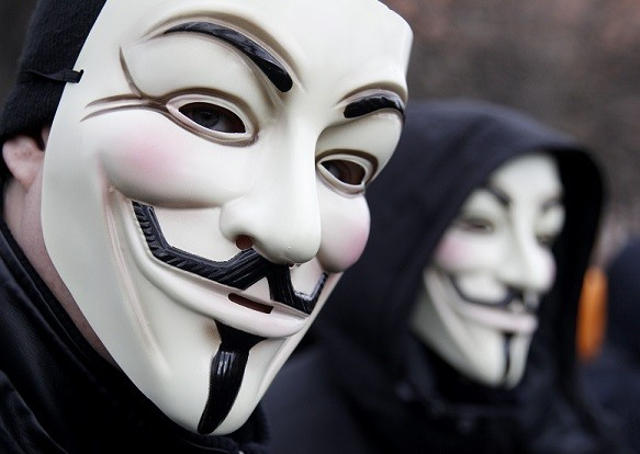 Anonymous also called for a protests outside the headquarters of the Royal Canadian Mounted Police (Reuters)