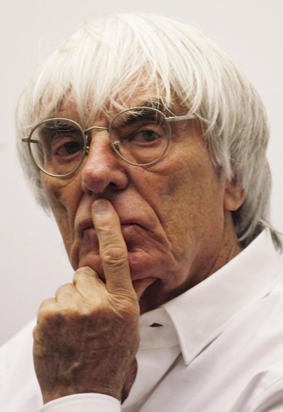 Formula One supremo Bernie Ecclestone