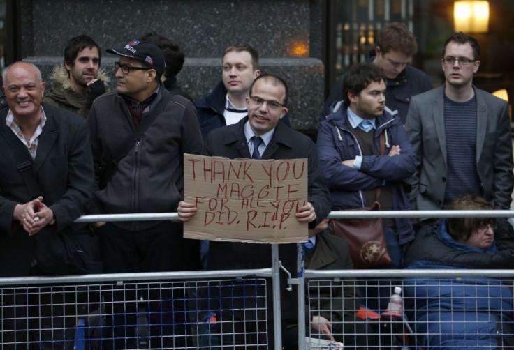 Thatcher mourner