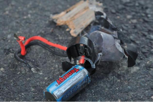 Boston Marathon bomb scene