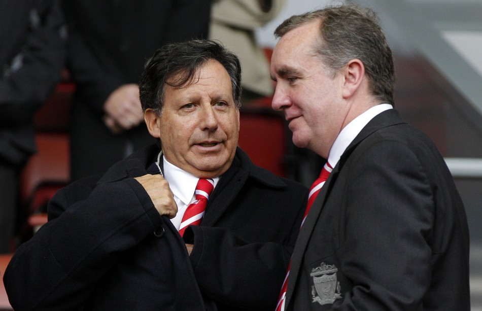 Liverpool's chairman Tom Werner (L) with managing director Ian Ayre