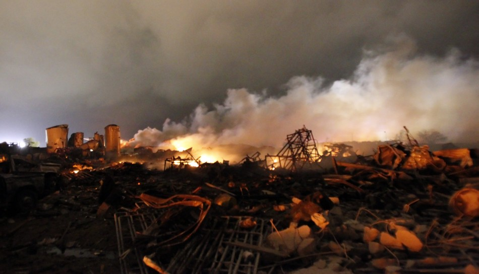 West Fertilizer Factory in ruins