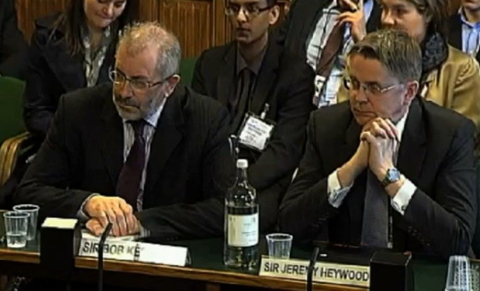 (l-r) Sir Bob Kerslade and Sir Jeremy Heywood