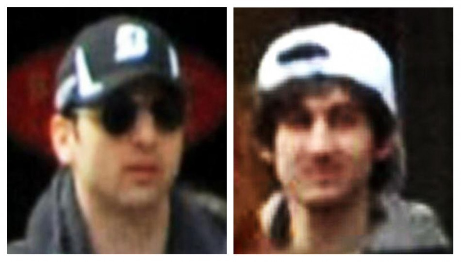 Handout pictures released through the FBI website show the suspects wanted for questioning in relation to the Boston Marathon bombing (Reuters)