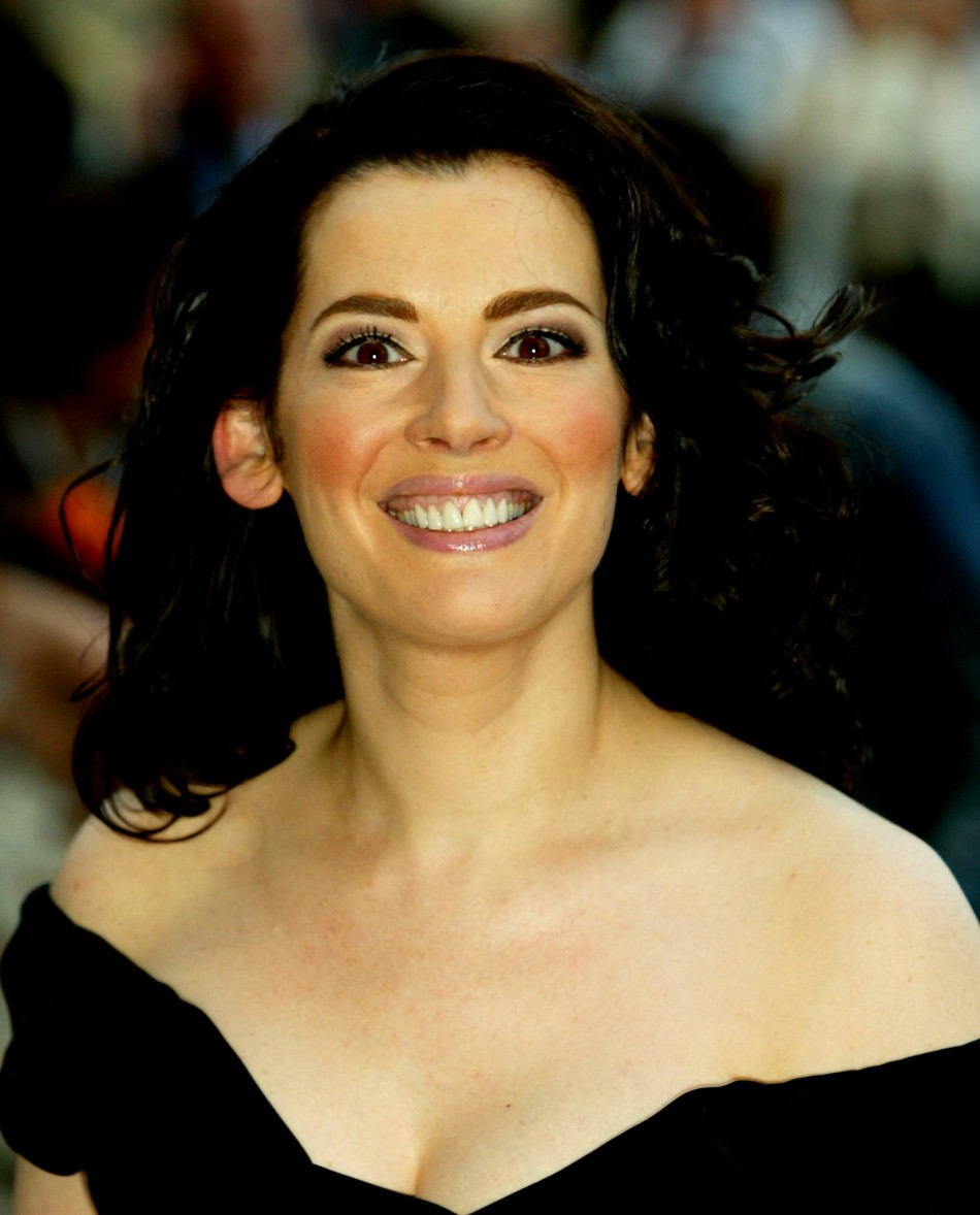 Nigella Lawson, British TV chef, appears to be choked by ...