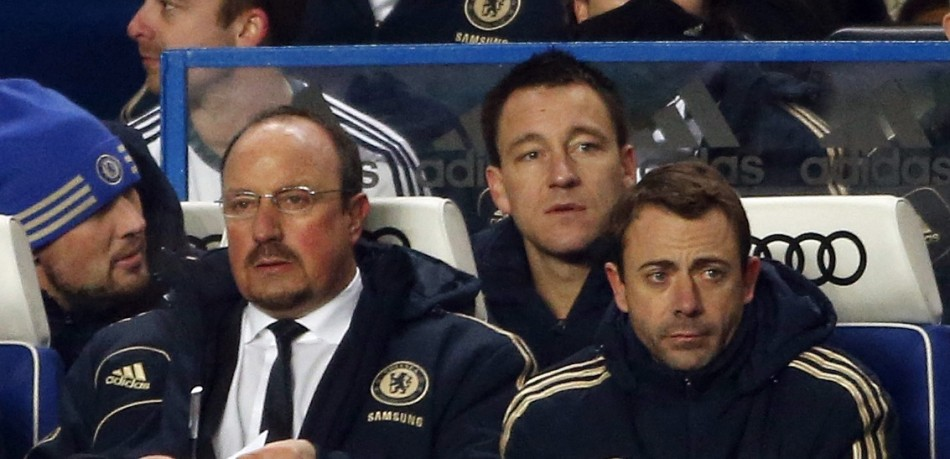 Rafael Benitez and John Terry