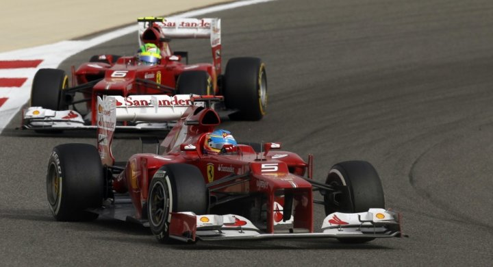 Fernando Alonso and Felipe Masa (Ferrari)