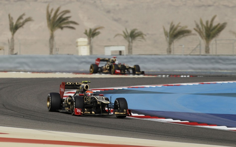 Romain Grosjean and Kimi Raikkonen (Lotus-Renault)