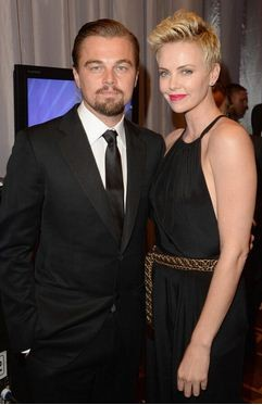 Charlize Theron and Leonardo DiCaprio arrives for the 24th Annual GLAAD Media Awards