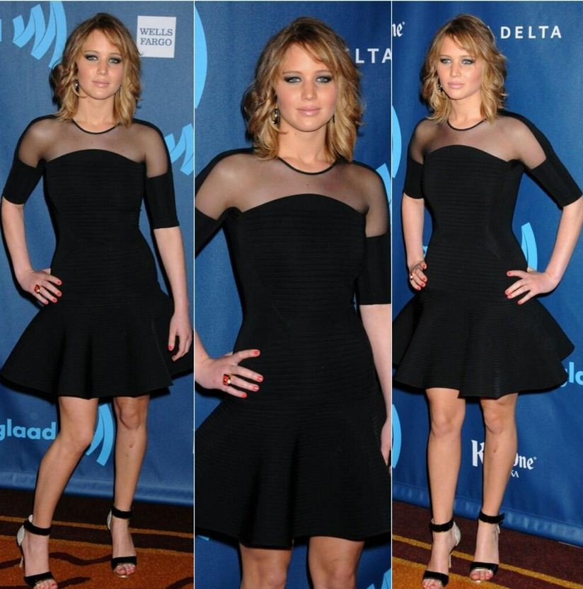 Jennifer Lawrence arrives for the 24th Annual GLAAD Media Awards