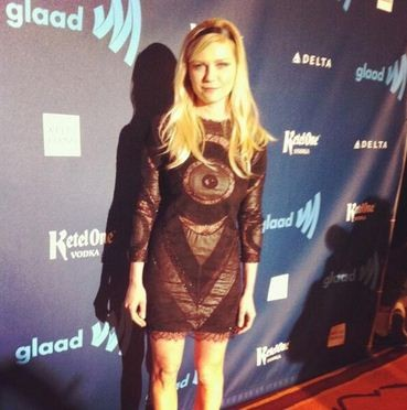 Kirsten Dunst arrives for the 24th Annual GLAAD Media Awards