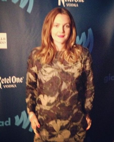 Drew Barrymore arrives for the 24th Annual GLAAD Media Awards