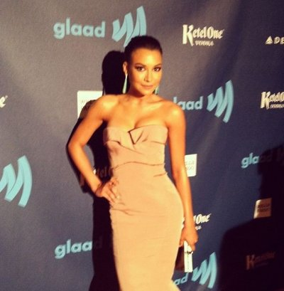Naya Rivera arrives for the 24th Annual GLAAD Media Awards