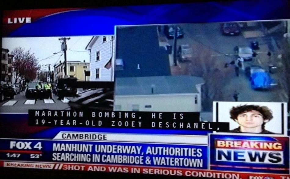Zooey Deschanel Boston Bombing Suspect