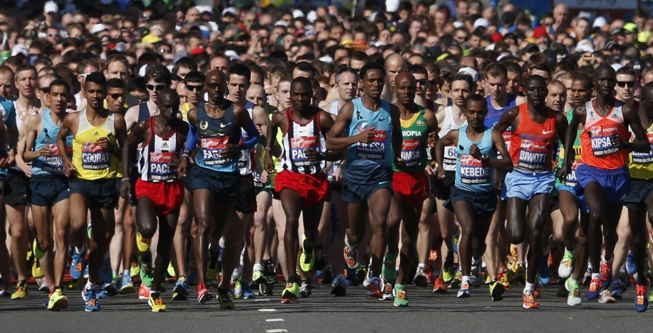 Around 36,000 runner competed in the London Marathon. Many paid their respects to the Boston victims by wearing black ribbons and holding a 30-second silence before the start