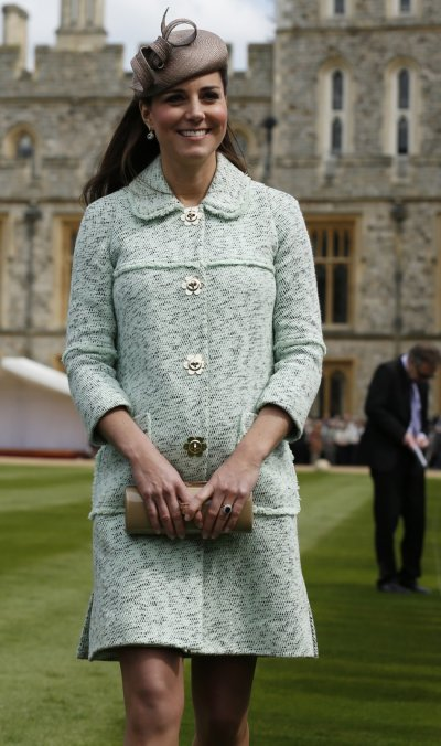 Britains Catherine, Duchess of Cambridge attends the National Review of Queens Scouts at Windsor Castle in Berkshire, near London April 21, 2013.