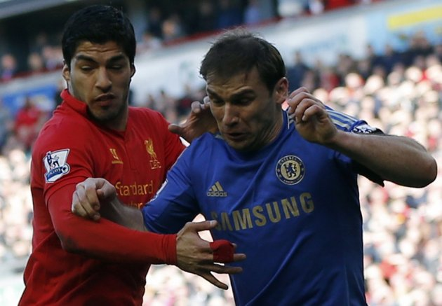 Luis Suarez bit Branislav Ivanovic on the arm