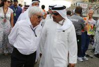 Bernie Eccelstone (L) and Bahrain's Crown Prince Salman bin Hamad al-Khalifa