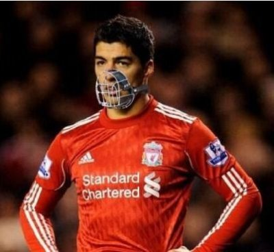 Health  Safety officials have reacted to the Luis Suarez biting incident by issuing him with some protective kit