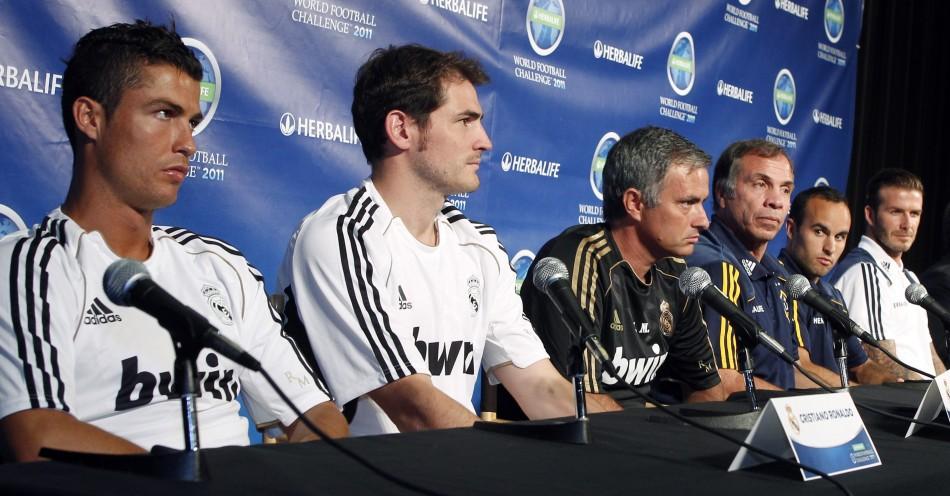 Cristiano Ronaldo, Iker Casillas and Jose Mourinho