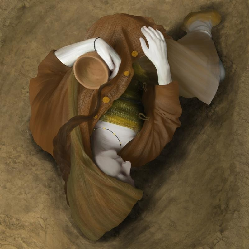 The nature of the burial was also seen as significant (Wessex Archaeology)