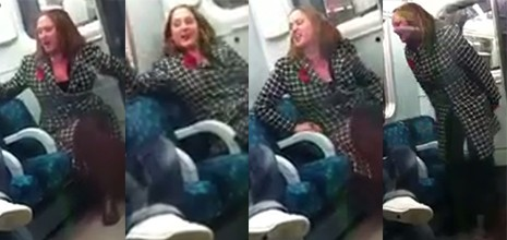 Photo of woman allegedly hurling racial abuse at a man on the Tube (BTP)