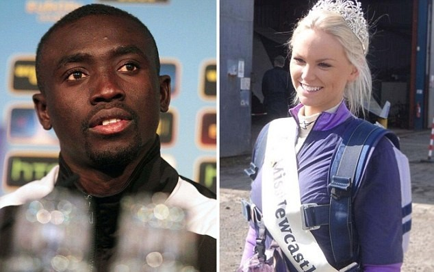 Papiss Cisse and Rachelle Graham