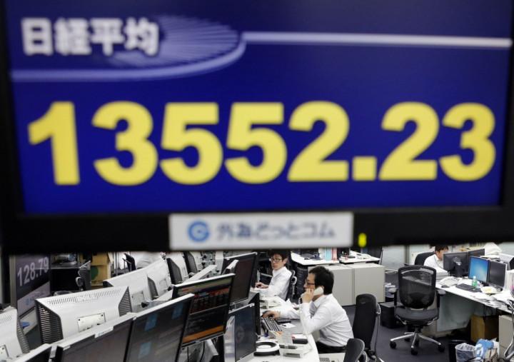 Nikkei share average in Tokyo