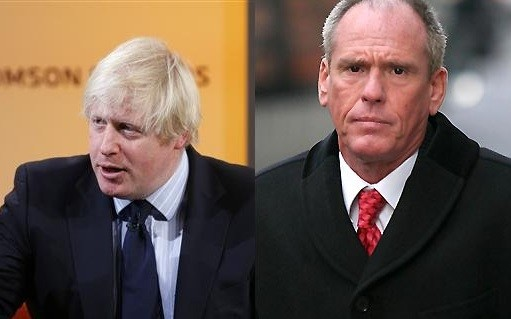 Boris Johnson and Terry Adams