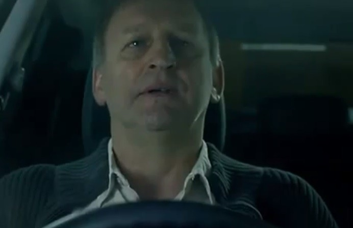 The advert showed a man attempting suicide in his car