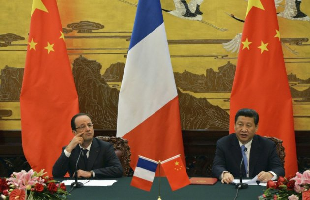 French President Francois Hollande and Chinese President Xi Jinping