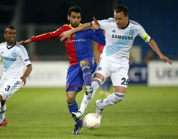 Mohamed Salah (L)