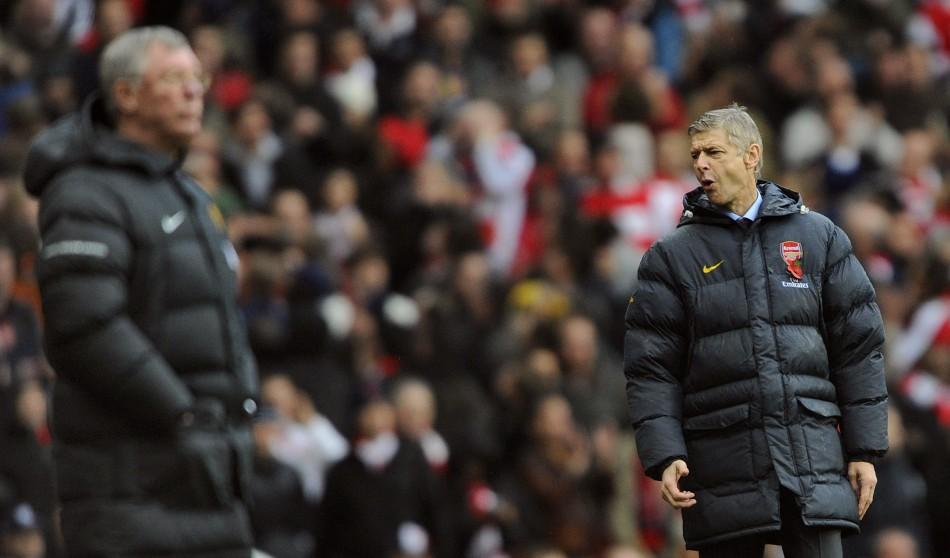 Sir Alex Ferguson (L) and Arsene Wenger