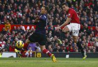 van Persie scored in the reverse fixture