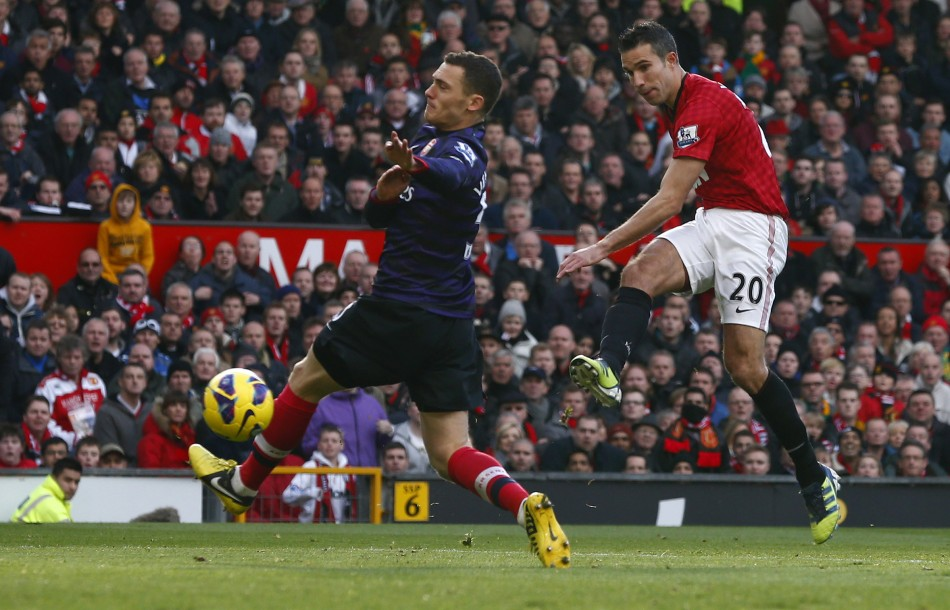 van Persie scored in the reverse fixture