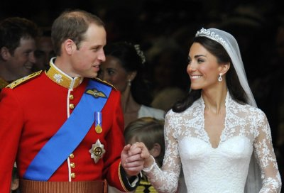 Prince William L and Catherine, Duchess of Cambridge, look at one another after their wedding ceremony in Westminster Abbey, in central London April 29, 2011.