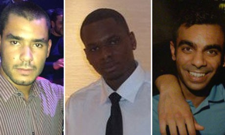 Grant Cameron, Karl Williams and Suneet Jeerh have been sentenced to four years in jail in Dubai following accusations they were tortured by police (Reprieve)