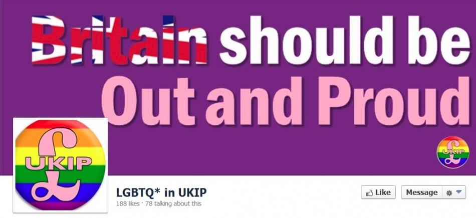 Ukip gay voice on Facebiook