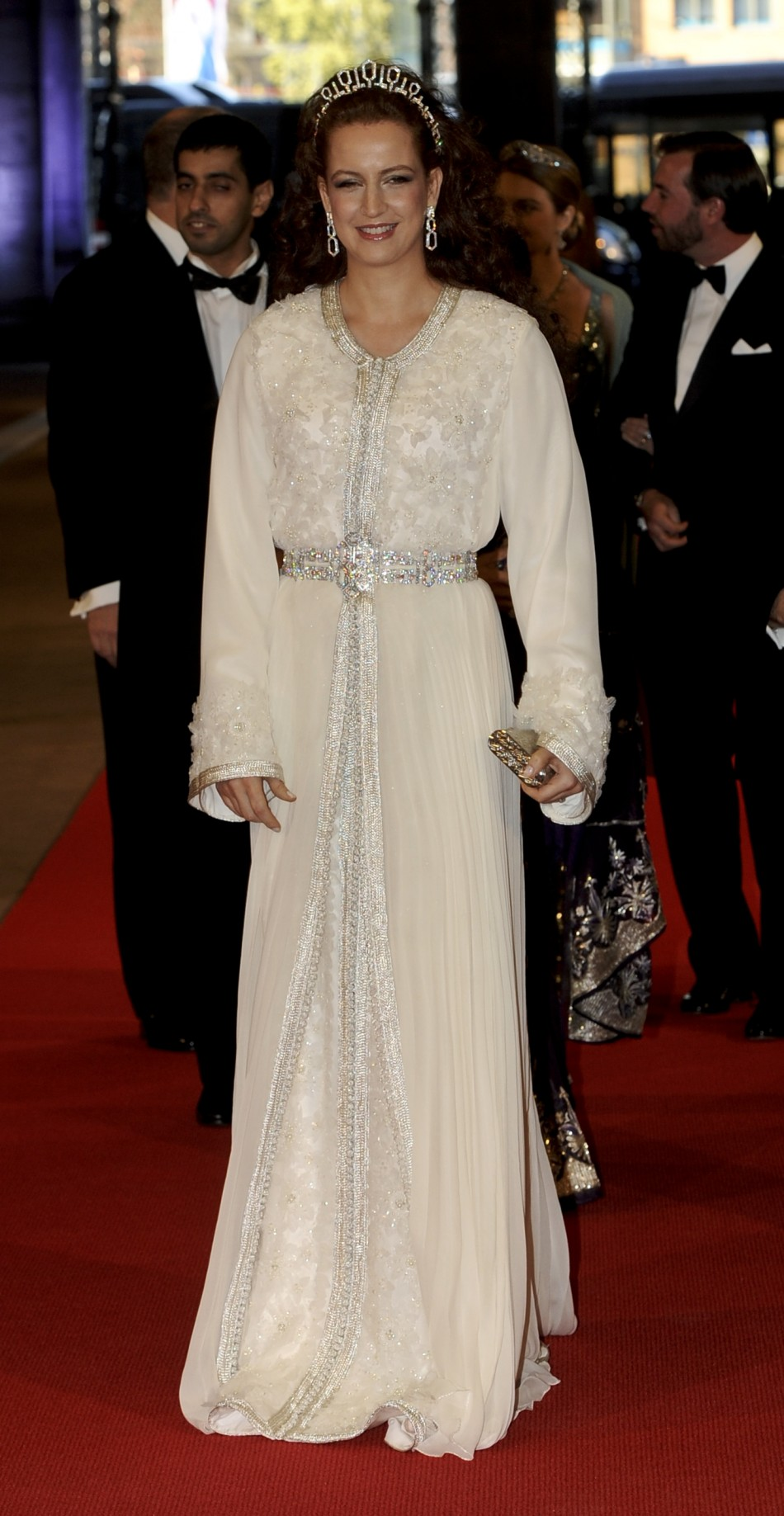 Moroccos Princess Lalla Salma arrives at a gala dinner organised on the eve of the abdication of Queen Beatrix of the Netherlands and the inauguration of her successor King Willem-Alexander at the Rijksmuseum in Amsterdam April 29, 2013.