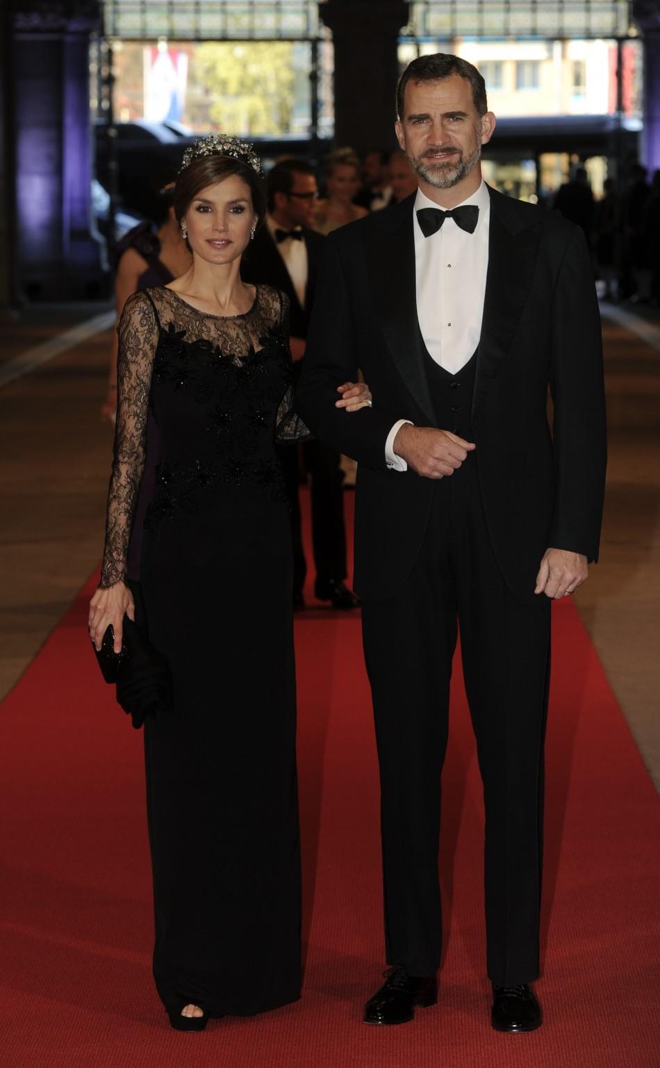 Spanish Princess Letizia and Her Husband Crown Prince Felipe