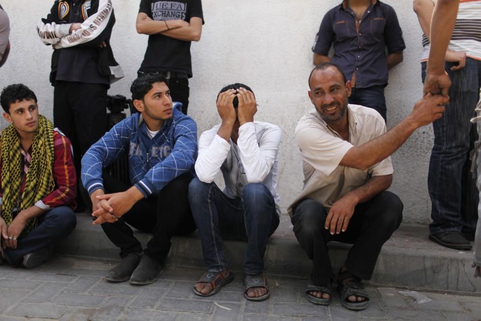 Palestinians mourn the death of Haitham Al-Mes-hal,