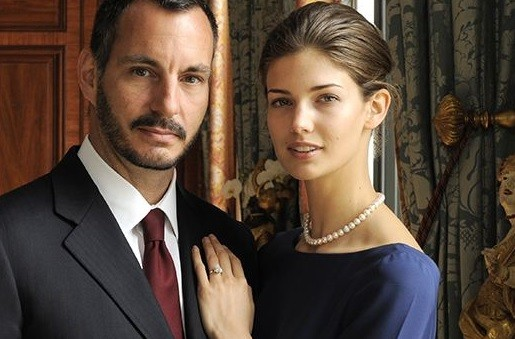 Kendra Spears and Prince Rahim Aga Khan