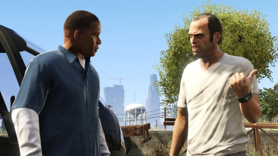 Grand Theft Auto V Franklin and Trevor