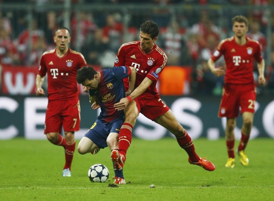 Lionel Messi and Mario Gomez