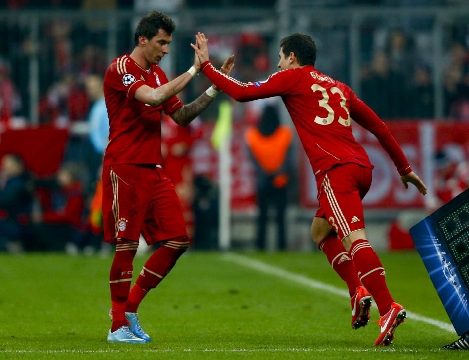 Mario Gomez (R) and Mario Mandzukic