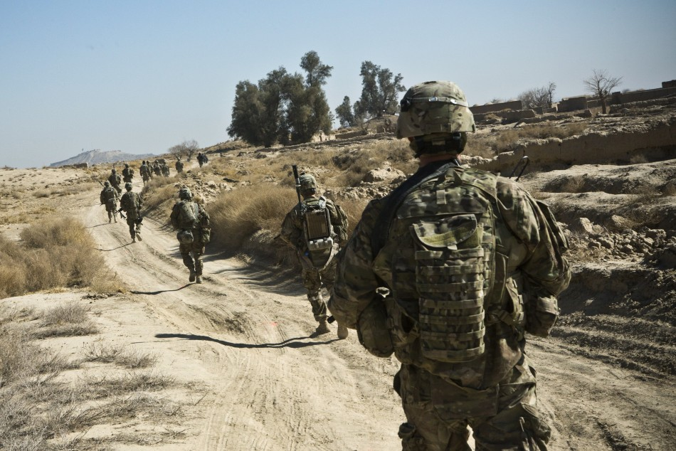The soldiers were killed in a roadside blast in the the Nahr-e Saraj district of Helmand province (Reuters)