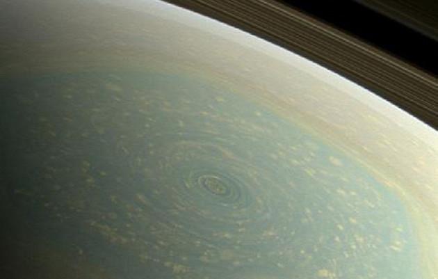 North Pole hurricane on Saturn