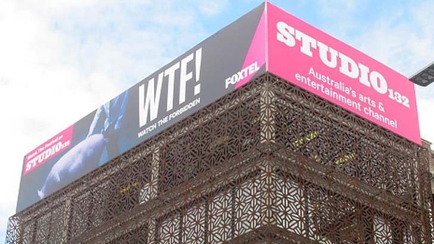 Bestial nonsense: Advert for Foxtel station, Studio