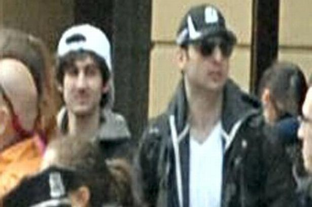 Dzhokhar, left, and Tamerlan Tsarnaev captured on CCTV shortly before the explosions at the Boston Marathon.