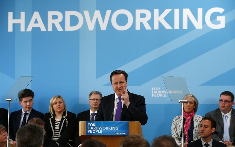 David Cameron on campaign trail